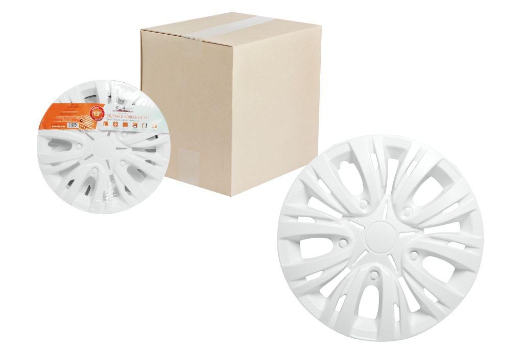 Колпаки колесные Airline Лион, цвет: белый, 14, 2 шт. AWCC-14-03AWCC-14-03Колпаки колесные Airline Лион изготовлены из ударопрочного полистирола, имеют модную текстуру, имитирующую карбон, покрашены в популярные цвета, а также стойкие к повышенным и пониженным температурам. Колпаки снабжены надежными универсальными креплениями, позволяющими обеспечивать равномерное распределение давления на все защелки. Колпаки Airline защитят тормозную систему от грязи, соли и реагентов, скроют изъяны штампованных дисков, тем самым украсив ваш автомобиль.
