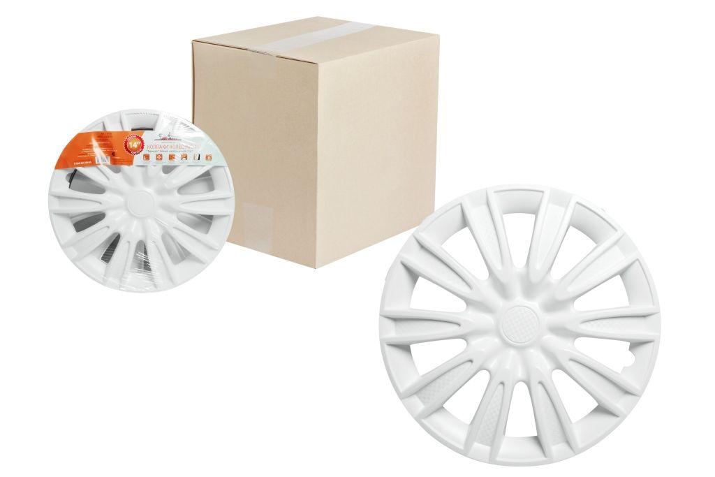 Колпаки колесные Airline Торнадо, цвет: белый, 14, 2 шт. AWCC-14-08AWCC-14-08Колпаки колесные Airline Торнадо изготовлены из ударопрочного полистирола, имеют модную текстуру, имитирующую карбон, покрашены в популярные цвета, а также стойкие к повышенным и пониженным температурам. Колпаки снабжены надежными универсальными креплениями, позволяющими обеспечивать равномерное распределение давления на все защелки. Колпаки Airline защитят тормозную систему от грязи, соли и реагентов, скроют изъяны штампованных дисков, тем самым украсив ваш автомобиль.