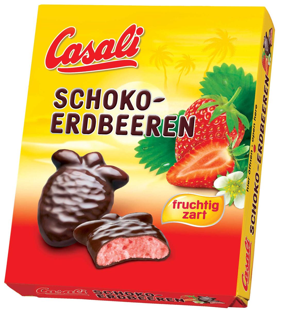Casali Schoko-Erdbeeren суфле клубничное в шоколаде, 150 г