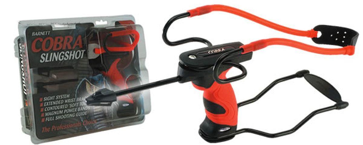 Рогатка Barnett Cobra, цвет: оранжевый16043Рогатка продвинутого уровня от компании Barnett для развлекательной стрельбы металлическими или пластиковыми шариками.
