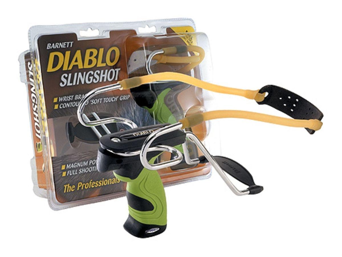 Рогатка Barnett Diablo, цвет: зеленый17066Рогатка продвинутого уровня от компании Barnett для развлекательной стрельбы металлическими или пластиковыми шариками.