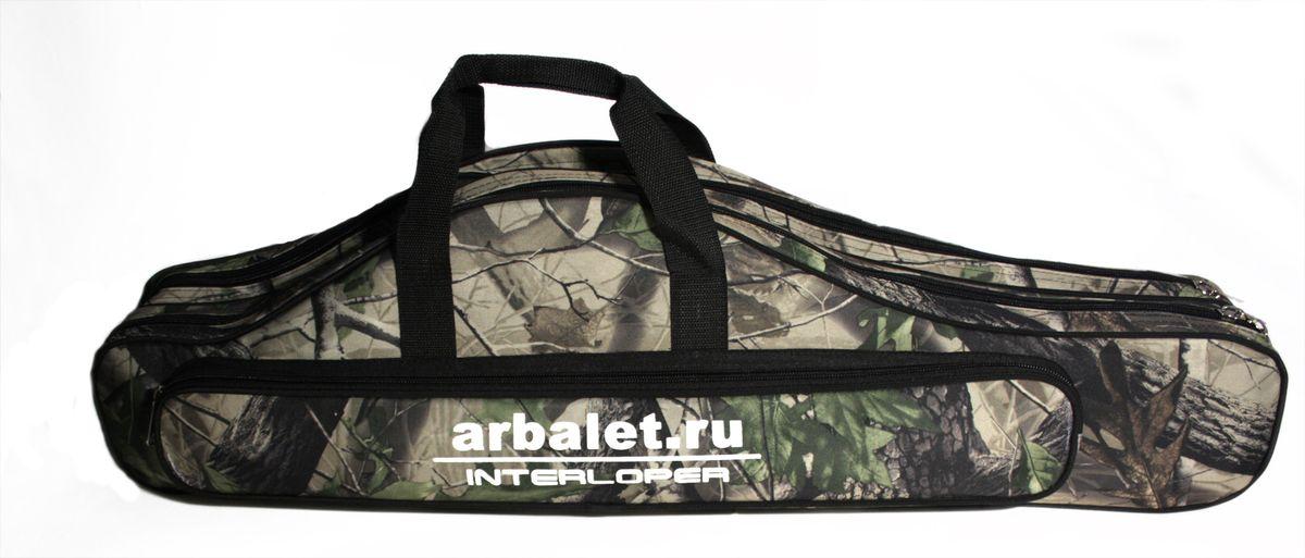 Чехол для арбалета Interloper, цвет: камуфляж. AR-1CAR-1CЧехол для блочного или рекурсивного арбалета, со снятыми плечами.
