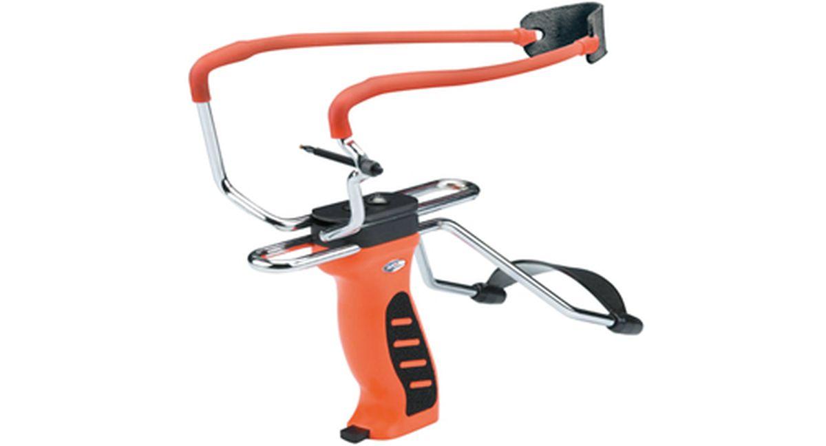 Рогатка Man Kung MK-SL06, с упором и магазином, цвет: оранжевыйMK-SL06/OРогатка с удобным упором для предплечья и магазином.