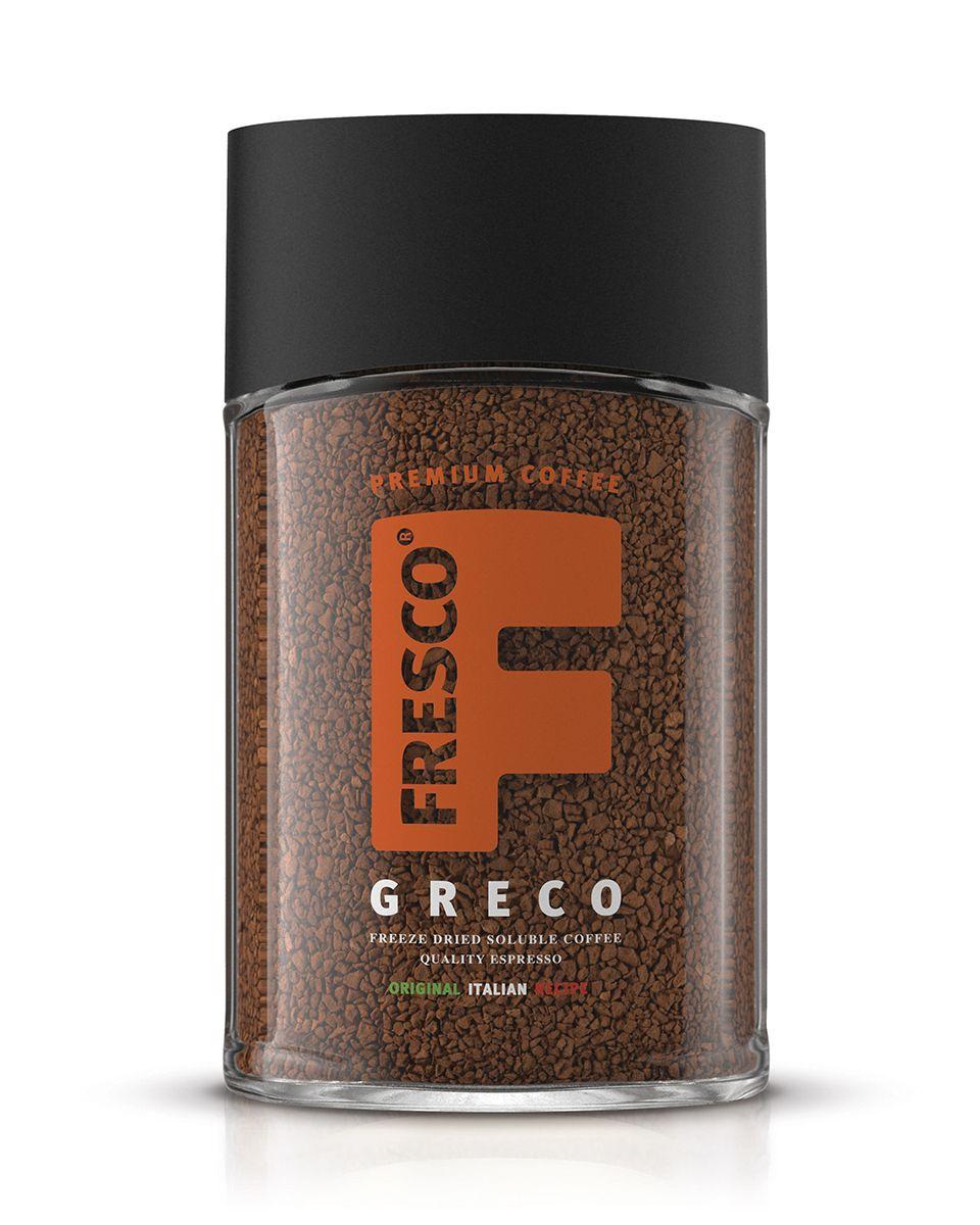 Fresco Greco кофе растворимый, 100 г8051070320439Сублимированный кофе Fresco Greco имеет очень яркий аромат и насыщенный вкус 100% Арабики. Идеальный эспрессо для разговоров в кругу друзей.