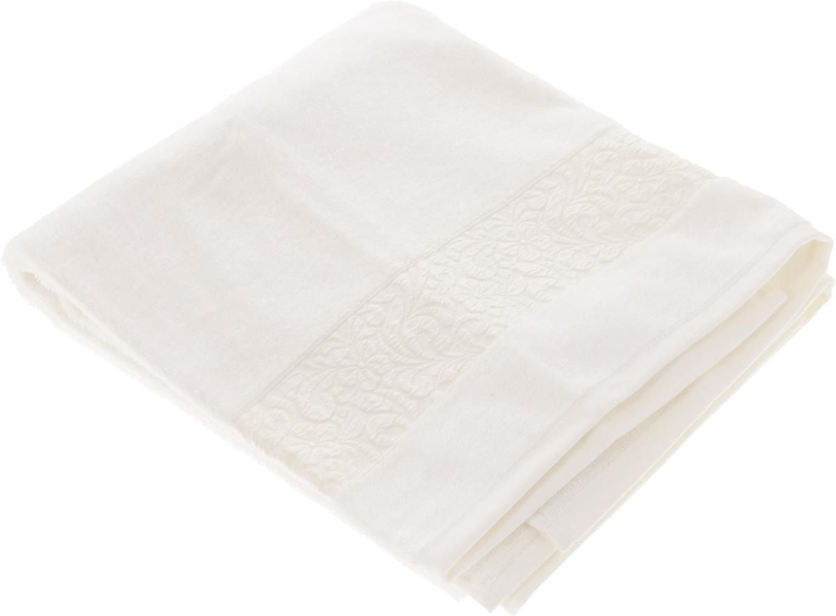 Полотенце бамбуковое Issimo Home Valencia, цвет: экрю, 90 x 150 см4754Полотенце Issimo Home Valencia выполнено из 60% бамбукового волокна и 40% хлопка. Таким полотенцем не нужно вытираться - только коснитесь кожи - и ткань сама все впитает. Такая ткань впитывает в 3 раза лучше, чем хлопок. Несмотря на высокую плотность, полотенце быстро сохнет, остается легкими даже при намокании. Изделие имеет красивый жаккардовый бордюр, оформленный цветочным орнаментом. Благородные, классические тона создадут уют и подчеркнут лучшие качества махровой ткани, а сочные, яркие, летние оттенки создадут ощущение праздника и наполнят дом энергией. Красивая, стильная упаковка этого полотенца делает его уже готовым подарком к любому случаю.