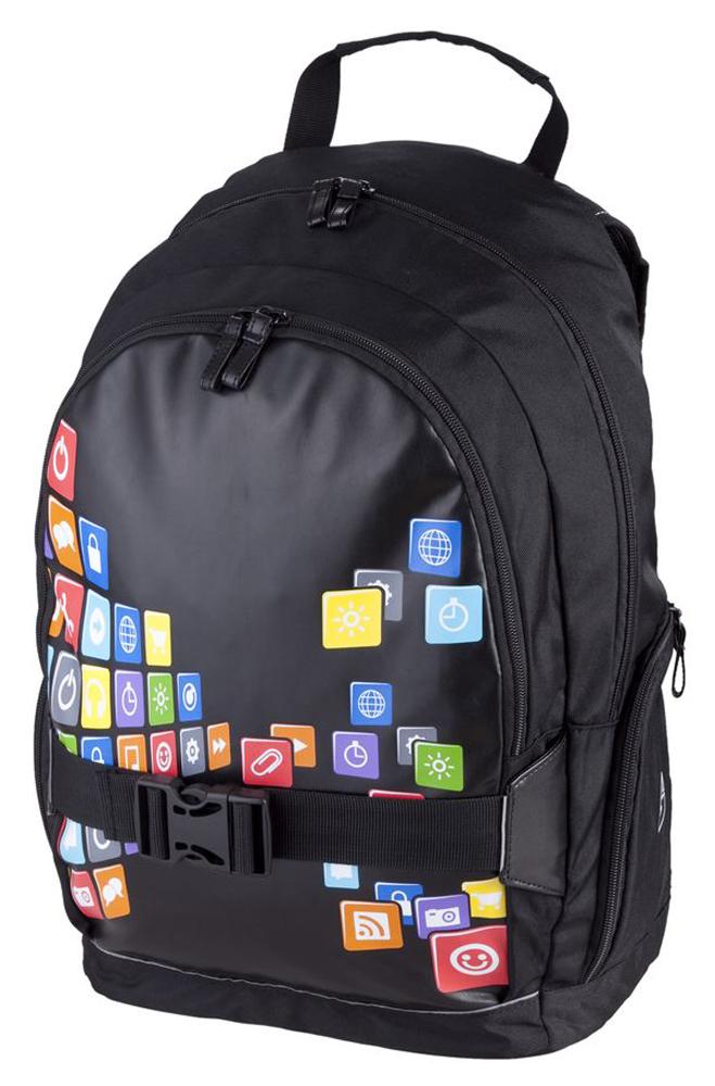 Walker Школьный ранец Fun iBag42064/80Уплотненная спинка и лямки помогают лучше распределить нагрузку и сохранить форму рюкзака независимо от его наполнения. Светоотражающие элементы расположены на передней части рюкзака на боковых и лямках. С ним путешествие становится безопасным.
