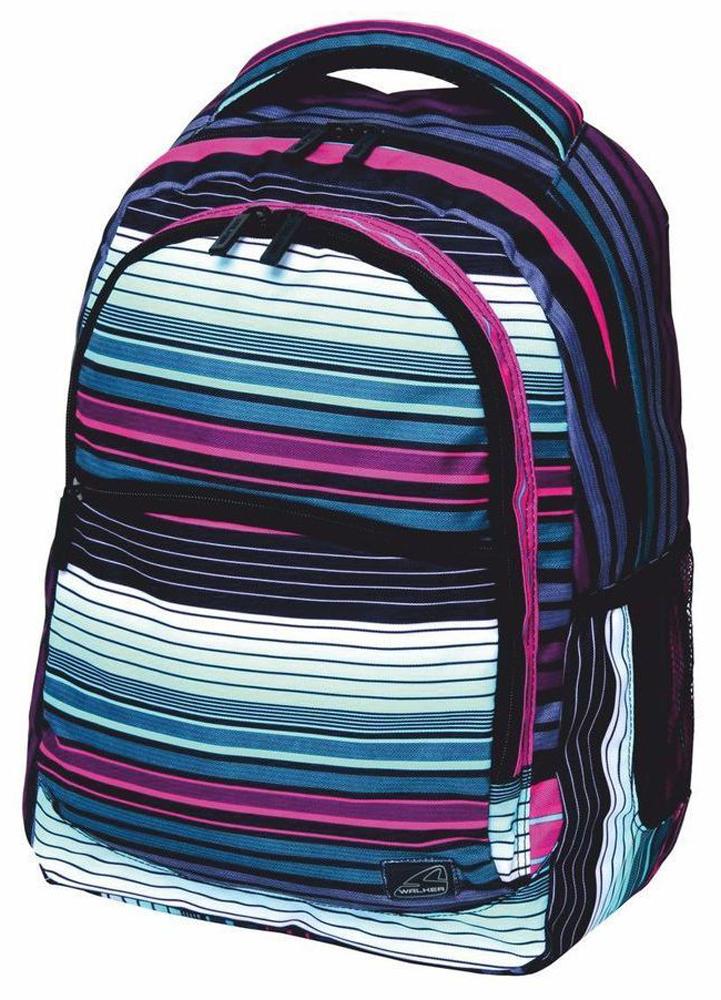 Walker Школьный ранец Base Classic Scale Stripes42264/122Уплотненная спинка и лямки помогают лучше распределить нагрузку и сохранить форму рюкзака независимо от его наполнения. Цвета изделия могут располагаться по разному.