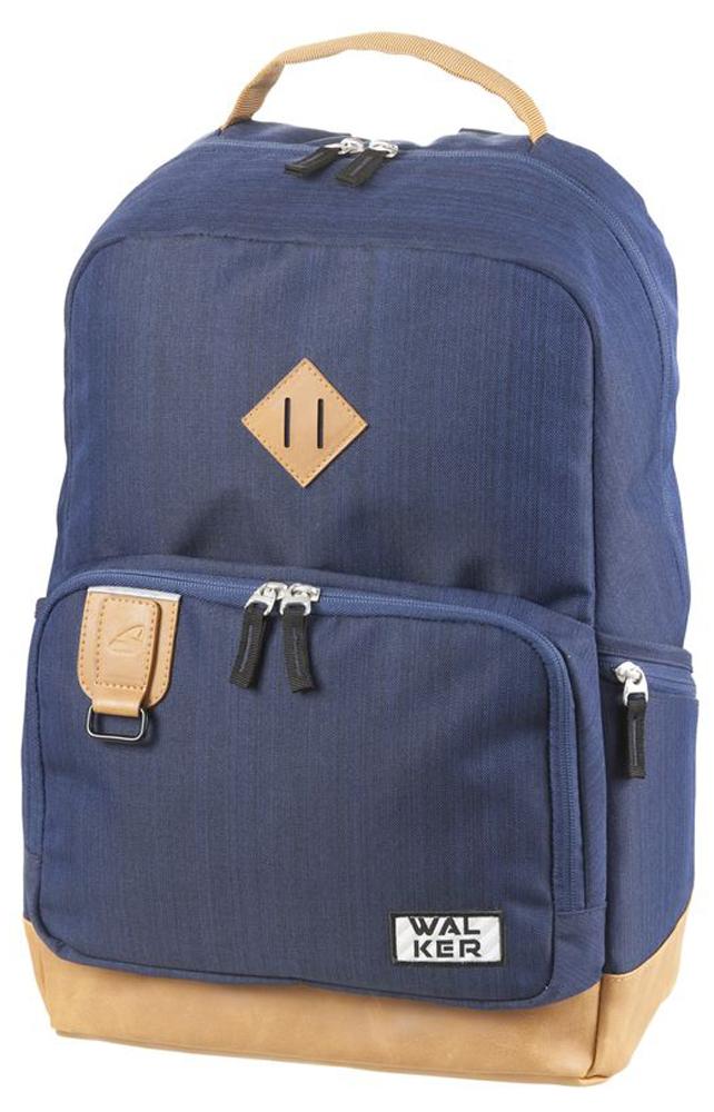 Walker Школьный ранец Concept цвет синий42254/70Уплотненная спинка и лямки помогают лучше распределить нагрузку и сохранить форму рюкзака независимо от его наполнения. Светоотражающие элементы расположены на передней части рюкзака на боковых и лямках. С ним путешествие становится безопасным.