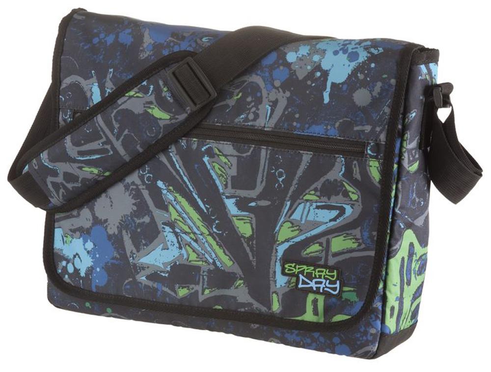 Walker Школьный ранец Fun Spray Day цвет синий зеленый42086/60Прочная и вместительная сумка Walker смотрится элегантно в любой ситуации. Идеальный выбор для школы , университета или досуга.