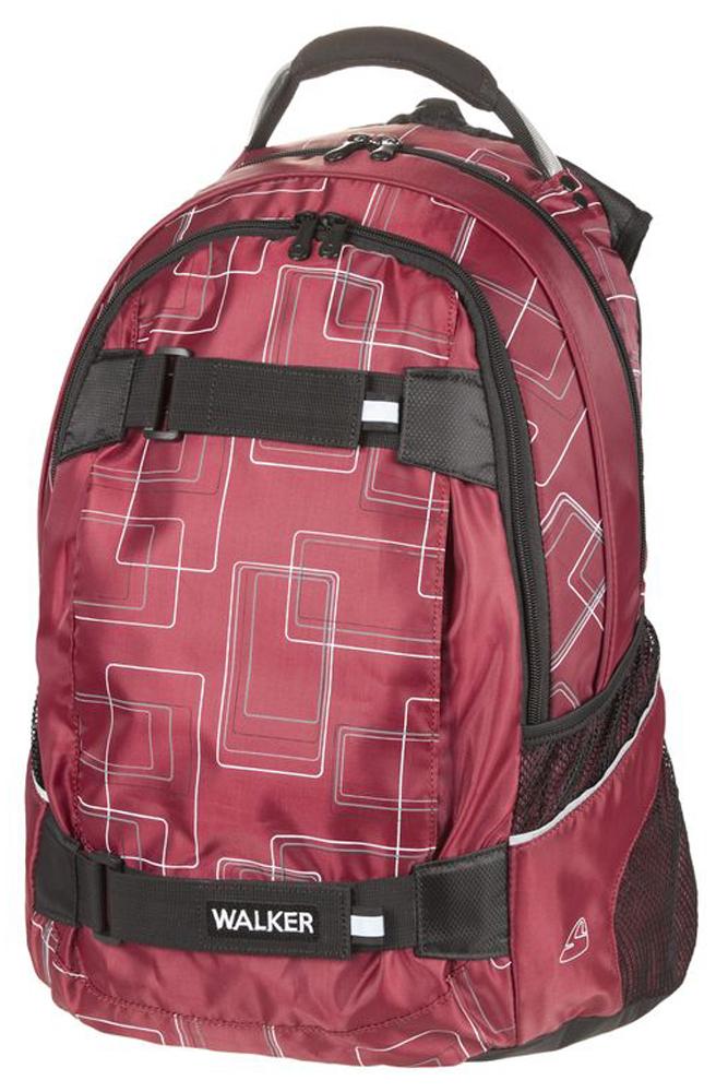 Walker Школьный ранец Frame42676/51Уплотненная спинка и лямки помогают лучше распределить нагрузку и сохранить форму рюкзака независимо от его наполнения. Светоотражающие элементы расположены на передней части рюкзака на боковых и лямках. С ним путешествие становится безопасным.