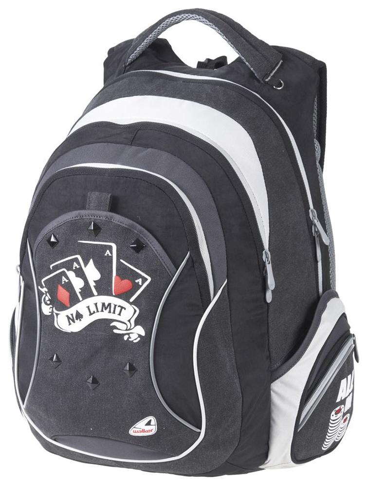 Walker Школьный ранец Fun No Limit42393/80Уплотненная спинка и лямки помогают лучше распределить нагрузку и сохранить форму рюкзака независимо от его наполнения.