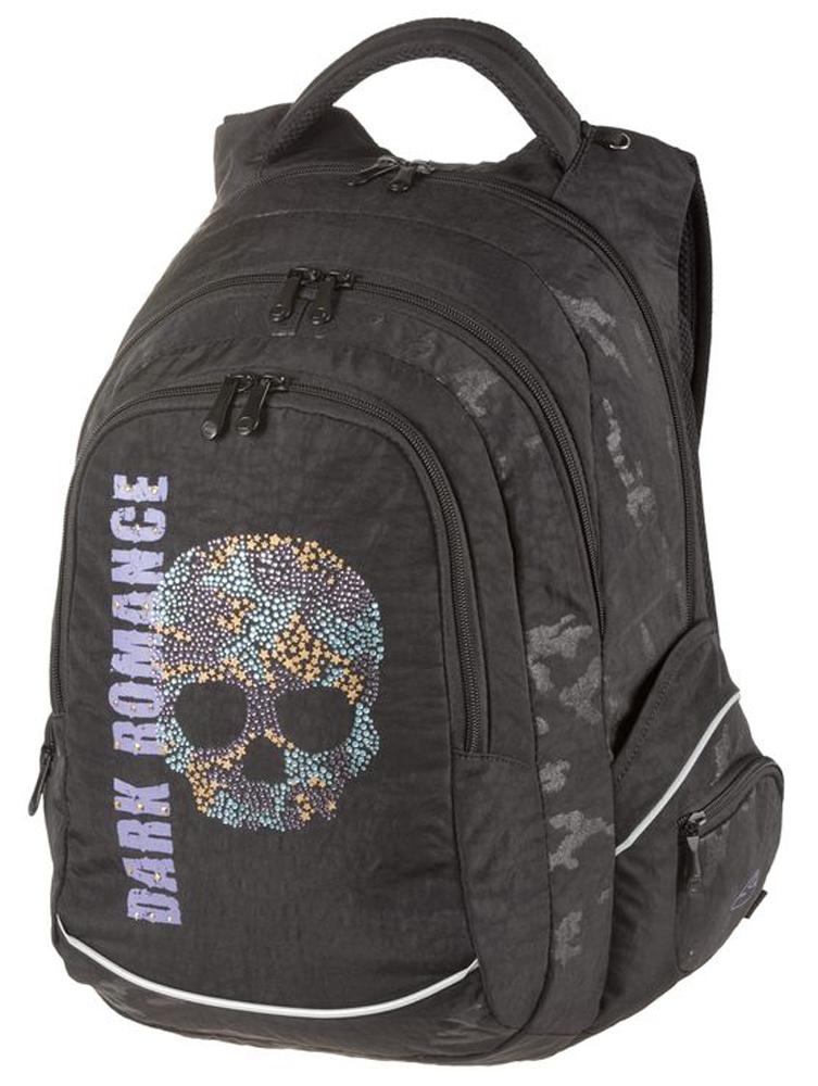 Walker Школьный ранец Fun Dark Romance42088/80Уплотненная спинка и лямки помогают лучше распределить нагрузку и сохранить форму рюкзака независимо от его наполнения. Светоотражающие элементы расположены на передней части рюкзака на боковых и лямках. С ним путешествие становится безопасным.