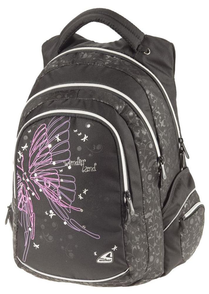Walker Школьный ранец Fun Wonderland42058/80Уплотненная спинка и лямки помогают лучше распределить нагрузку и сохранить форму рюкзака независимо от его наполнения. Светоотражающие элементы расположены на передней части рюкзака на боковых и лямках. С ним путешествие становится безопасным.