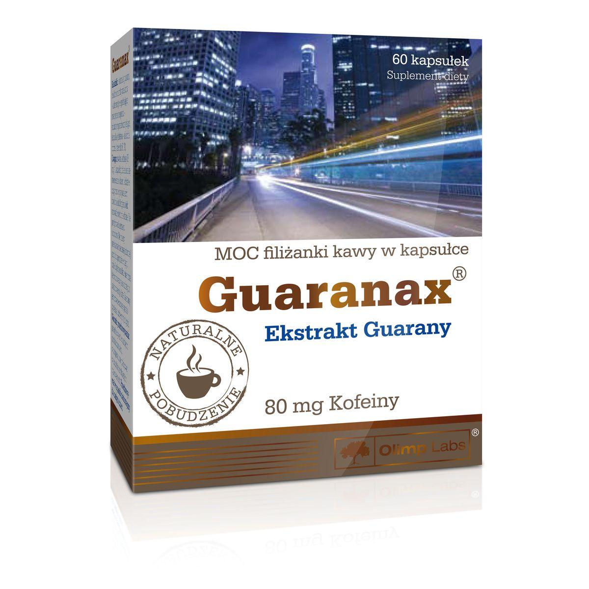 OLIMP Энергетик Гуарана 60 капсO14345Guaranax от Olimp – это универсальный энергетик, содержащий кофеин, полученный из экстракта гуараны. Гуарана – растение, произрастающее в Бразилии и Уругвае, его плоды, напоминающие орех фундук, содержат до 6% кофеина. Кофеин является подходящим большинству людей эффективным стимулятором, который увеличивает концентрацию, внимание и инициативность – со стороны ЦНС, а также физическую активность и силовые показатели. Olimp Guaranax рекомендуется людям, которые выполняют ответственную работу в ночное время суток (например, вождение автотранспорта) или просто хотят взбодриться; перед тренировкой Olimp Guaranax поможет эффективнее тренироваться и повысит силовые показатели (особенно в комбинации с креатином). В отличии от многих энергетиков, Olimp Guaranax удобен в подборе подходящей дозировки, т.к. 1 капсула содержит небольшое количество кофеина – 80 мг (приблизительно как 1 чашка кофе). Рекомендации по применению: Чтобы поддерживать высокую психологическую и физическую...