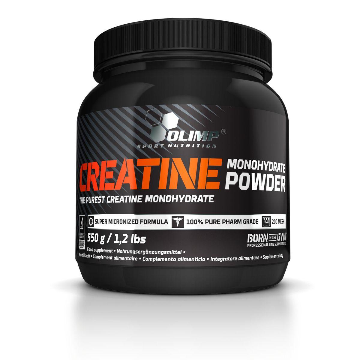 OLIMP Креатин Creatine Monohydrate Powder 550гO26461Креатин - необходимый элемент для превращения энергии в организме! Это жизненно необходимое вещество содержится в мышечных клетках в форме креатинфосфата. Усиленная мышечная работа, требующая максимального освобождения энергии, сопровождается повышенным расходованием креатинфосфата как важнейшего энергетического источника мышечной системе, вследствие чего потребность организма в креатине при физических нагрузках значительно повышается! Помимо увеличения выносливости на тренировках креатин способствует увеличению объема мускулатуры. Использован креатин компании Creapure™. Рекомендации по применению: 5 г порошка в день. Рекомендации по приготовлению: Растворите 1 порцию (5 г) в 150-200 мл воды или Вашего любимого напитка.