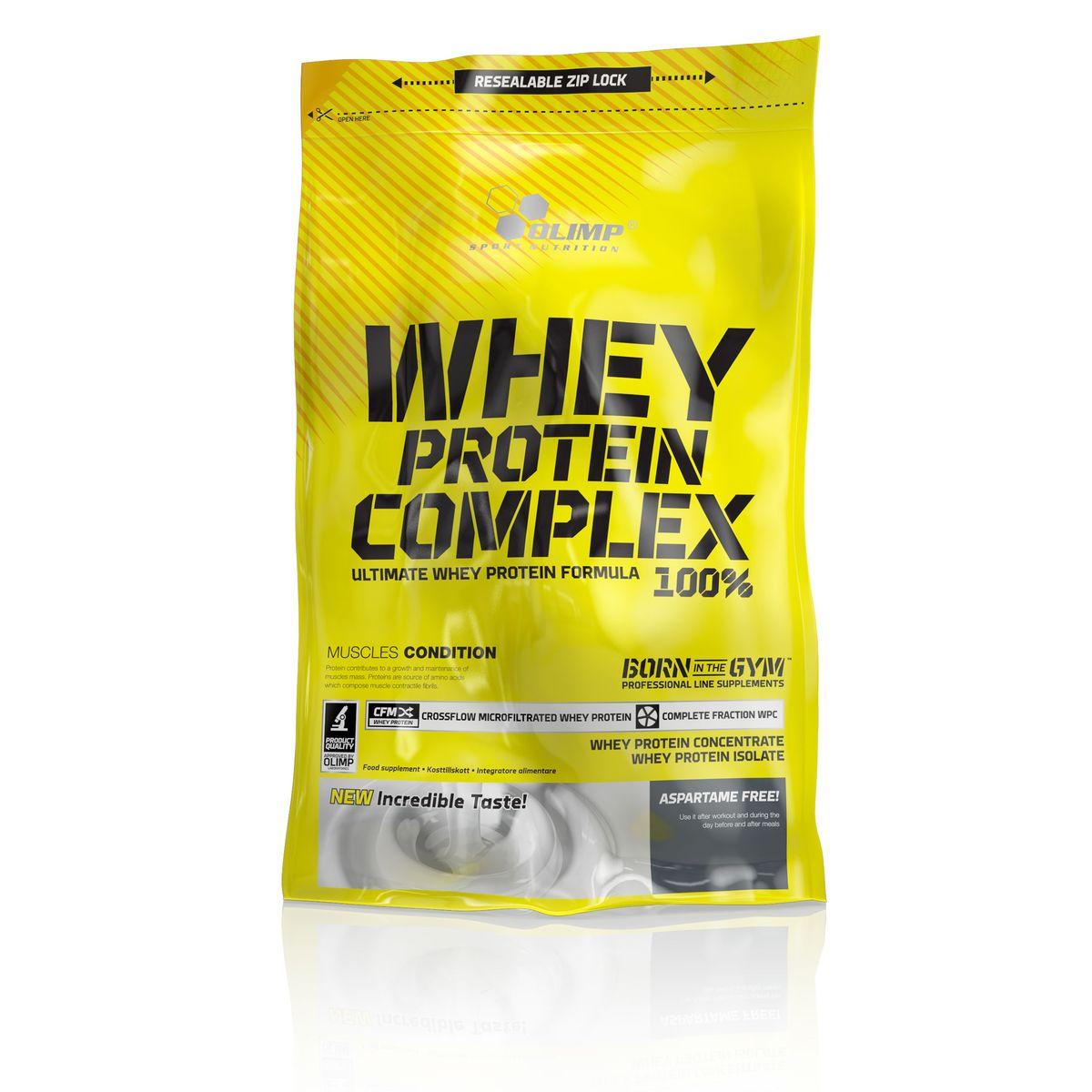 OLIMP Протеин Whey Protein Complex 100%, 0,7кг, ванильO27628Whey Protein – так называется белок молочной сыворотки по-английски. Этот белок обладает наивысшей биологической ценностью и лучше всего переносится организмом. Компания Olimp разработала высококачественный протеиновый порошок, Olimp Whey Protein Complex 100%- который обладает приятным вкусом и отвечает физиологическим потребностям. Очень важную роль играет здесь способ производства, поскольку в качестве сырья используется микрофильтрованный протеин, который не выносит высоких температур и высокого давления. Рекомендации по применению: Принимайте до 3 порции в день - утром, между приемами пищи и после тренировки или перед сном.