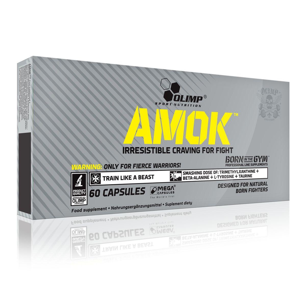 OLIMP Предтренировочный комплекс Амок, 60 капс ( O33049 )