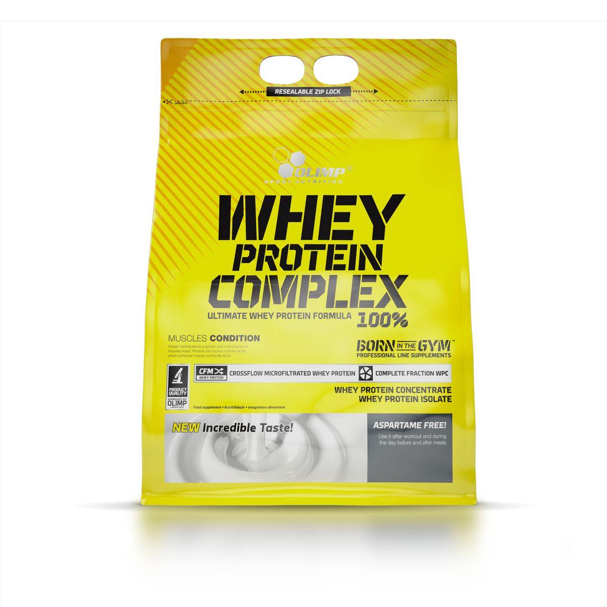 OLIMP Протеин Whey Protein Complex 100%, 2,3кг, клубникаO44496Whey Protein – так называется белок молочной сыворотки по-английски. Этот белок обладает наивысшей биологической ценностью и лучше всего переносится организмом. Компания Olimp разработала высококачественный протеиновый порошок, Olimp Whey Protein Complex 100%- который обладает приятным вкусом и отвечает физиологическим потребностям. Очень важную роль играет здесь способ производства, поскольку в качестве сырья используется микрофильтрованный протеин, который не выносит высоких температур и высокого давления. Рекомендации по применению: Принимайте до 3 порции в день - утром, между приемами пищи и после тренировки или перед сном.