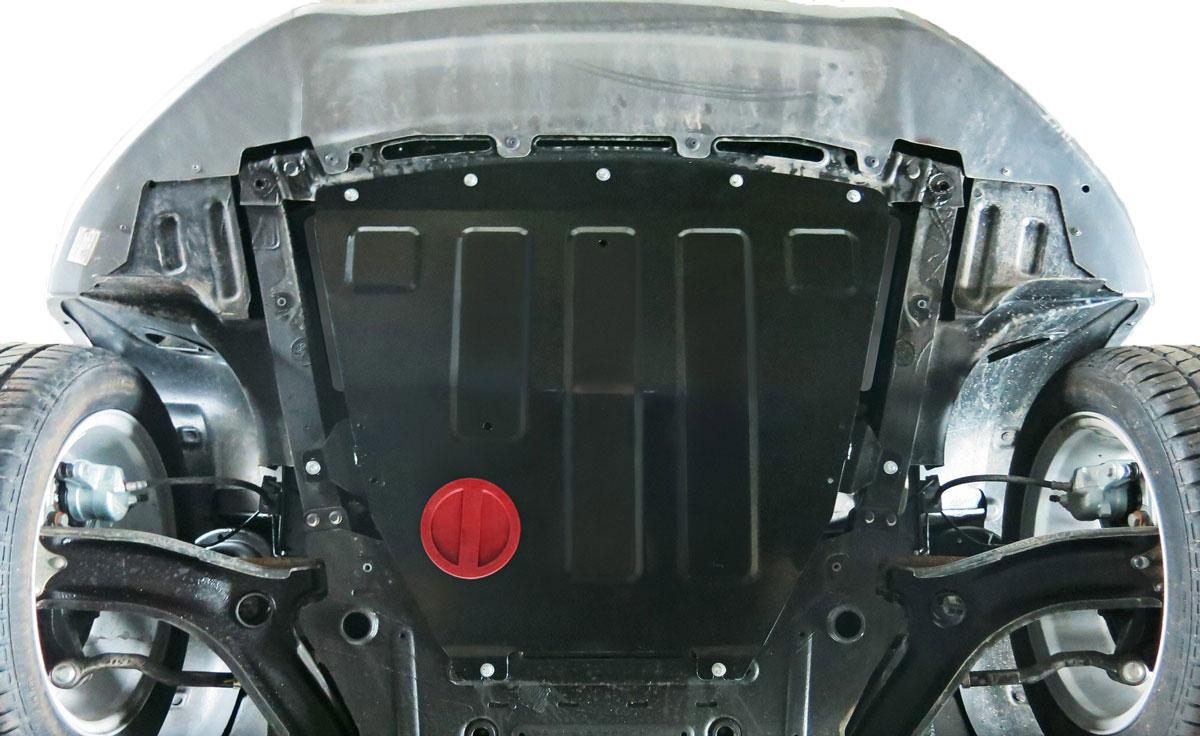 Защита картера и КПП АвтоБроня для Lada Vesta седан, седан Sport, универсал, универсал Cross 2015-н.в., сталь 2 мм, без крепежа. 1.06029.1 ( 1.06029.1 )
