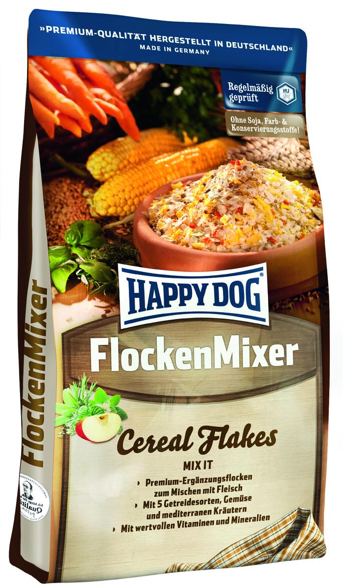 Happy Dog Сухой корм для собак Премиум хлопья FlockenMixer, 3 кг2162Мясо – важный продукт, но оно не удовлетворяет все потребности, и для полноценного питания его недостаточно! Сбалансированный рацион для собак должен включать в себя также разнообразные, легко усваиваемые растительные компоненты с активными и балластными веществами. «Хлопья-Микс Happy Dog» идеально подходят для смешивания с мясом. Эта смесь содержит легко перевариваемые тонкие хлопья, хлопья из цельного зерна, овощи и травы. Идеальное дополнение к каждому мясному кормлению.
