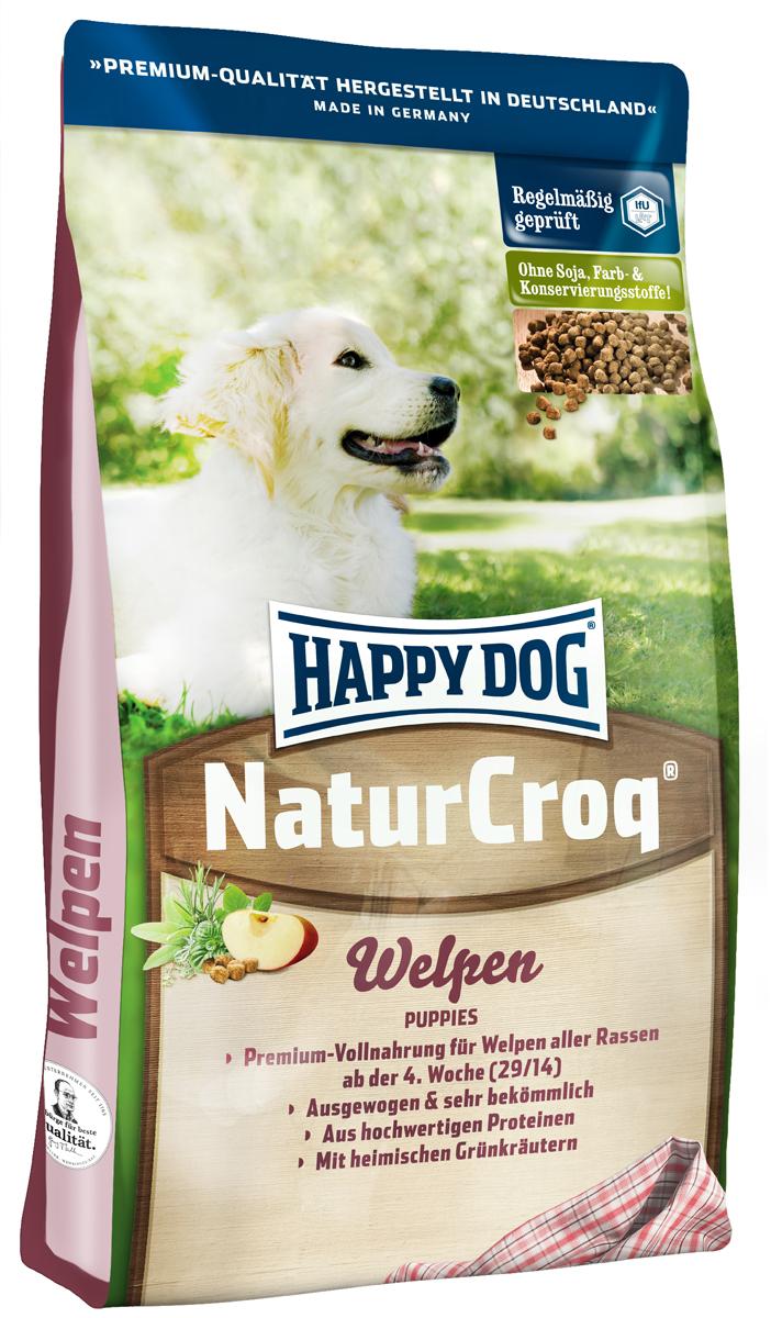 Корм сухой Happy Dog Natur Croq. Welpen для щенков, 15 кг2558Сухой корм Happy Dog Natur Croq. Welpen разработан специально для щенков в возрасте от 4 недель до 6 месяцев с учетом их особенных потребностей в питании. Ценные белки животного происхождения, легко усваивающиеся злаки, все необходимые витамины, минеральные вещества и микроэлементы создают наилучшие условия для роста вашей собаки. Состав: птица, пшеничная мука, кукурузная мука, мясопродукты, рисовая мука, цельнозерновая кукуруза, птичий жир, говяжий жир, рыба, гидролизат печени, свекольная пульпа, мясная мука, яблочная пульпа (0,8%), дрожжи, ростки солода, хлорид натрия, овес, подсолнечник, листья салата, петрушка, (общий объем трав: 0,3%). Аналитический состав: сырой протеин 29%, сырой жир 14%, сырая клетчатка 3%, сырая зола 7%, кальций 1,25%, фосфор 0,85%, натрий 0,25%, калий 0,45%. Витамин А 10250 I.E., витамин D3 1000 I.E., железо 75 мг, медь 4 мг, цинк 6 мг, марганец 3 мг, йод 350 мг, селен. Антиоксиданты 10 мг,...