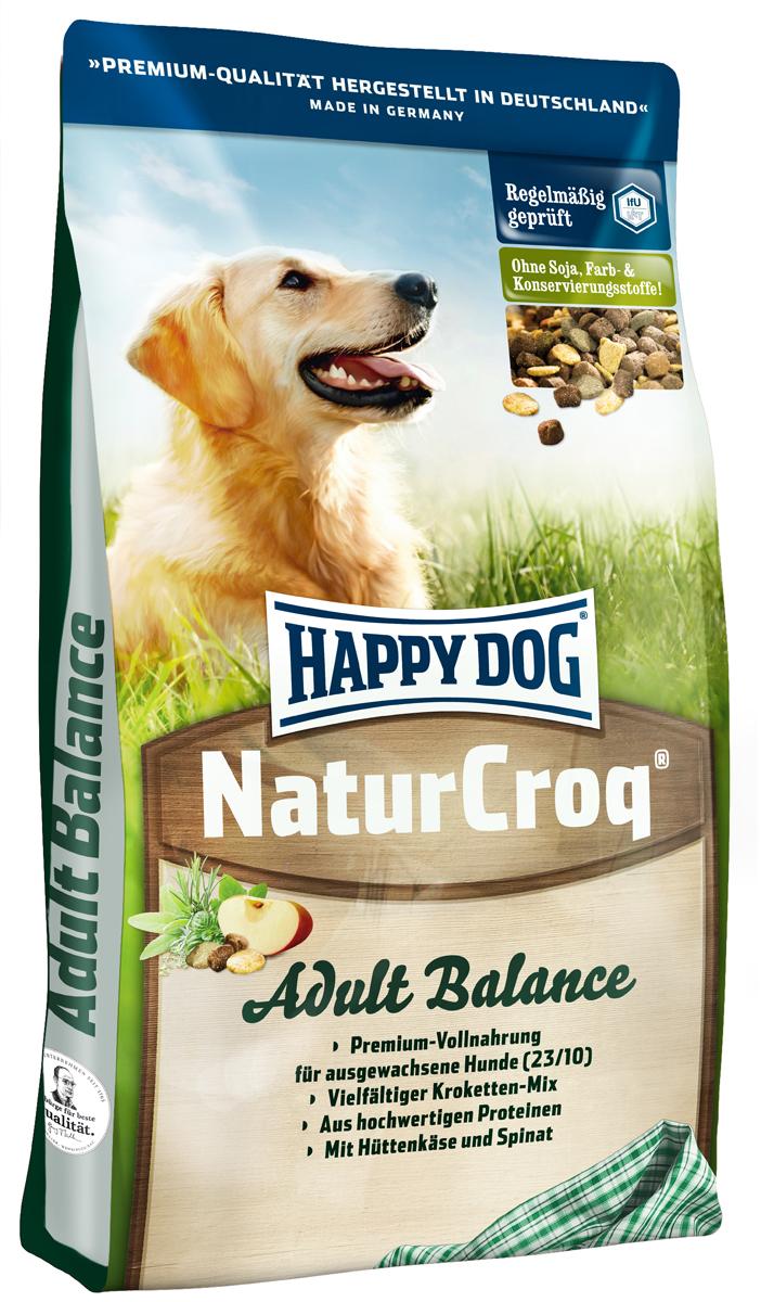 Корм сухой Happy Dog Natur Croq для взрослых собак, 15 кг2640Happy Dog Natur Croq - легко усваиваемый полнорационный корм класса премиум. Корм идеально подходит для всех взрослых собак с нормальной потребностью в калориях. Уникальная смесь крокет с неповторимым вкусом! Полезная рецептура с домашним сыром, шпинатом и дрожжами благотворно влияет на пищеварение и работу кишечника. Благодаря этому корм идеально подходит и для всех чувствительных собак. Состав: птица, цельные зерна пшеницы, пшеничная мука, цельные зерна кукурузы, кукурузная мука, рисовая мука, овсяная мука, цельные зерна ячменя, мясо, рыба, птичий жир, говяжий жир, свекольная пульпа, гидролизат печени, яблочная пульпа (0,8%), хлорид натрия, домашний творожный сыр сухой (0,3%), морковь сушеная (0,1%), дрожжи (экстракт) (0,1%), шпинат сушеный (0,08%), люцерна сушеная (0,08%). Аналитический состав: сырой протеин 23,0%, сырой жир 10,0%, сырая клетчатка 3,0%, сырая зола 6,0%, кальций 1,4%, фосфор 0,9%, натрий 0,35%, калий...