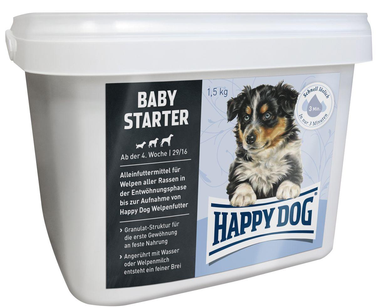 Happy Dog Сухой корм для щенков Первый прикорм Baby Starter, 1,5 кг3504Оптимально сбалансированное питание для щенка - лучшая основа для здорового развития! Рецептура корма Baby Starter с содержанием протеина 29% одобрена ветеринарными врачами. Happy Dog Baby Starter содержит высококачественное мясо птицы и лосося, а также ценного новозеландского моллюска. Этот корм оптимально подходит для беспроблемного и щадящего кормления щенков всех пород, начиная с 4-ой недели жизни. Приблизительно с 5-6 недели щенка постепенно переводят на подходящий корм Happy Dog Baby. Разнообразный и сбалансированный полнорационный корм для щенков с уникальной формулой Happy Dog Natural Life Concept надежно предотвращает явления недостаточности в организме.