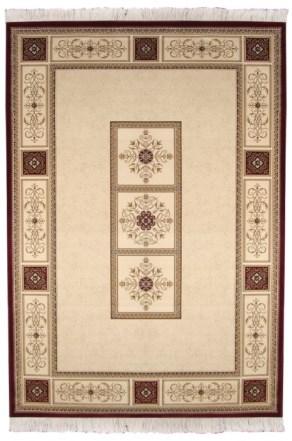 Коврик прикроватный Oriental Weavers Кастл, цвет: коричнево-красный, 120 см х 180 см. 520 Z12032Традиционные ковровые дизайнвы из Персии и Ирана на ковре высокрй плотности подчеркнут изысканность и строгость любого классического интерьера