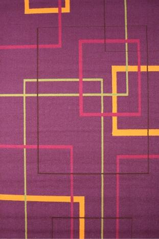 Ковер Oriental Weavers Дaзл, цвет: фиолетовый, 100 х 150 см. 662 M15052Яркая циновка с мягким и упругим ворсом - неповторимый элемент для гостиных и детских комнат. Оригинальный ковер от известной египетской фабрики Oriental Weavers подойдет для современных и классических интерьеров.