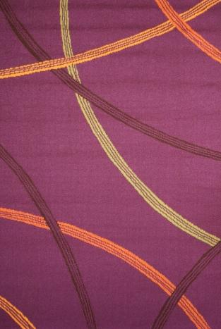 Ковер Oriental Weavers Дaзл, цвет: фиолетовый, 100 х 150 см. 730 М15054Яркая циновка с мягким и упругим ворсом - неповторимый элемент для гостиных и детских комнат. Оригинальный ковер от известной египетской фабрики Oriental Weavers подойдет для современных и классических интерьеров.