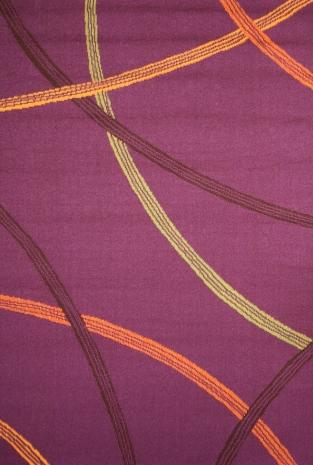 Ковер Oriental Weavers Дaзл, цвет: фиолетовый, 100 х 150 см. 809 S15059Яркая циновка с мягким и упругим ворсом - неповторимый элемент для гостиных и детских комнат. Оригинальный ковер от известной египетской фабрики Oriental Weavers подойдет для современных и классических интерьеров.