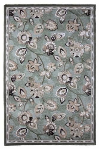 Коврик прикроватный Oriental Weavers Арена, цвет: зеленый, 120 см х 180 см. 2G15132Сочетание крупного рисунка на шинилле-это последние тенденции ковровой моды. Подойдет для классических интерьеров.