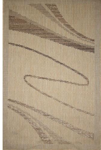 Коврик прикроватный Oriental Weavers Энжи (Фом), цвет: светло-коричневый, 120 см х 180 см. 41 D16794Циновка на резиновой основе-это практичное и современное решение для прихожих и веранд