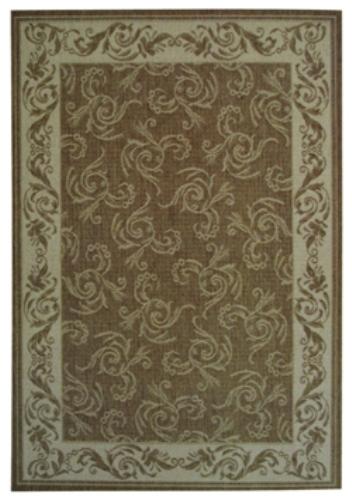 Коврик прикроватный Oriental Weavers Давн, цвет: коричневый, 80 см х 160 см. 602 N16807Циновка из полипропилена-удобно, практично, современно