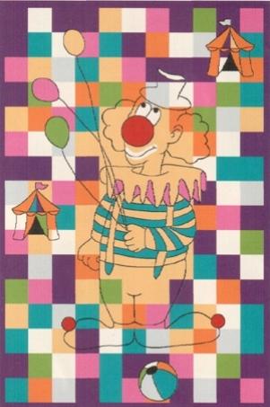 Коврик прикроватный Oriental Weavers Фанки Mim, цвет: фиолетовый, 100 см х 150 см16976Высокие потребительские свойства, яркий дизайн-это ковер в детскую