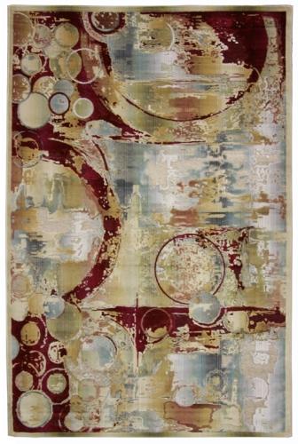 Коврик прикроватный Oriental Weavers Симфония, цвет: коричнево-красный, 120 см х 180 см. 9 X18569Современные дизайны в необычной цветовой гамме-такой ковер подойдет как для креативного, так и для строгого интерьера