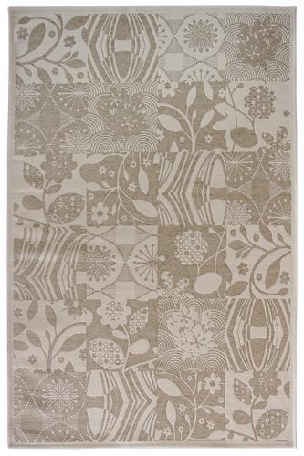 Коврик прикроватный Oriental Weavers Дрим, цвет: бежевый, 120 см х 180 см. 23 W18589Изысканный шерстяной гобелен в стиле пэтч-ворк удовлетворит самый изысканный вкус