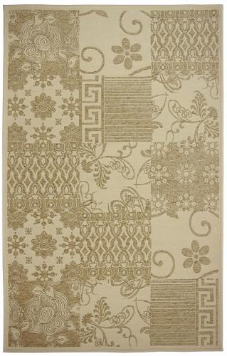 Коврик прикроватный Oriental Weavers Дрим, цвет: оливковый, 80 см х 165 см. 5 W18886Изысканный шерстяной гобелен в стиле пэтч-ворк удовлетворит самый изысканный вкус
