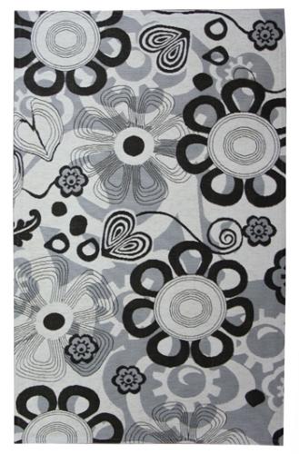 Коврик прикроватный Oriental Weavers Санлайт, цвет: черно-серый, 75 см х 120 см. 74 K20706Яркие гобелены на основе из латекса за счет многобразия дизайнов станут незаменимым украшением любого интерьера