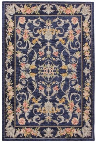 Коврик прикроватный Oriental Weavers Санлайт, цвет: темно-синий, 75 см х 120 см. 225 B20708Яркие гобелены на основе из латекса за счет многобразия дизайнов станут незаменимым украшением любого интерьера