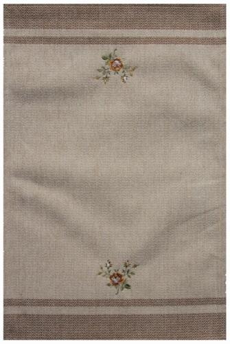 Коврик прикроватный Oriental Weavers Милано, цвет: светло-бежевый, 55 см х 85 см. 11 W287Приятные на ощупь и стильные коврики из шинилла и вискозы на основе из латекса подходят как для спальни, так и для гостиной
