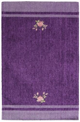 Коврик прикроватный Oriental Weavers Милано, цвет: фиолетовый, 55 см х 85 см. 9 M289Приятные на ощупь и стильные коврики из шинилла и вискозы на основе из латекса подходят как для спальни, так и для гостиной