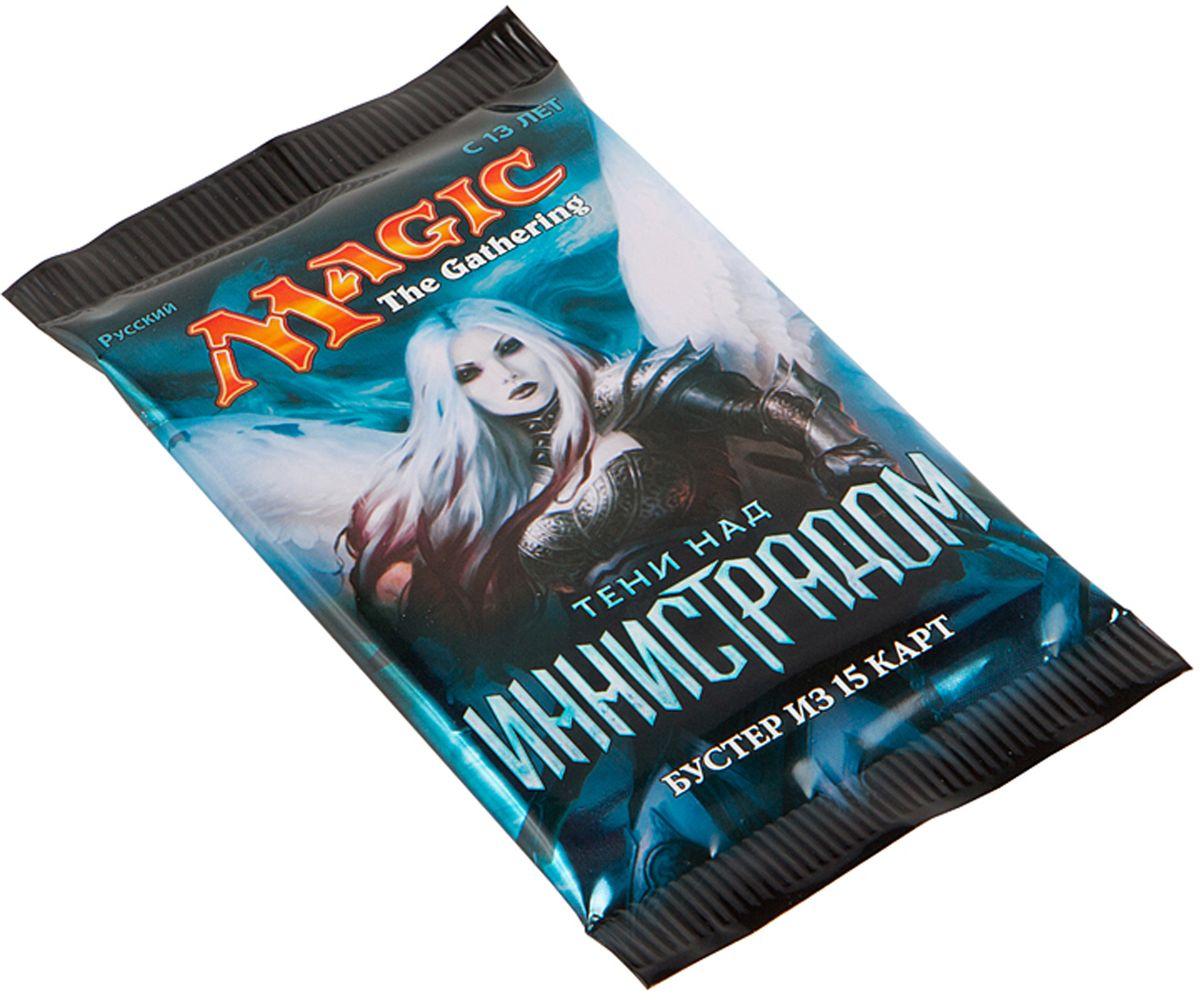Magic: The Gathering Настольная игра Тени над Иннистрадом на русском языкеB62161210Каждый бустер включает в себя 15 случайных карт, из которых одна редкая или мифическая, 3 необычные и 11 обычных.