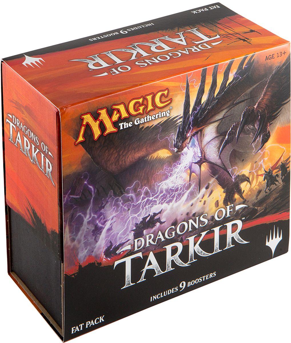 Magic: The Gathering Настольная игра Подарочный набор Драконы ТаркираB19370000Набор включает в себя 9 пакетиков-бустеров с случайными картами (15 карт в каждом пакетике), иллюстрированную энциклопедию, посвященную данному изданию, уникальный кубик-счётчик жизней, 80 базовых земель, коробку для хранения 500 карт и две коробочки для колод без протекторов. Набор отлично подойдет как новичку, так и профессионалу по Magic the Gathering и станет отличным подарком к любому событию.