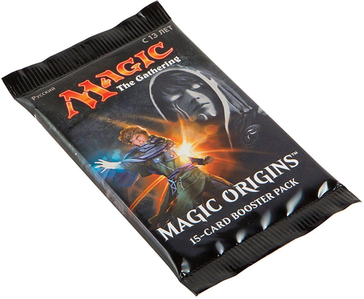Magic: The Gathering Настольная игра Magic OriginsB25390001Каждый бустер включает в себя 15 случайных карт, из которых одна редкая или мифическая, 3 необычные и 11 обычных.