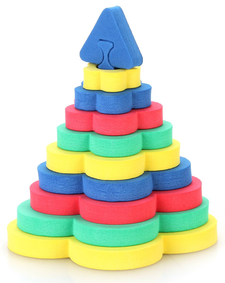 Бомик Мягкий конструктор Пирамида-цветок319Мягкий объемный конструктор Пирамида-цветок привлечет внимание малыша и не позволит ему скучать. Элементы конструктора выполнены из мягкого, эластичного, прочного материала, который обеспечивает большую долговечность и является абсолютно безопасным для детей. Мягкий конструктор разовьет у ребенка память, воображение, моторику, пространственное и логическое мышление. Порадуйте его таким замечательным подарком! Характеристики: Размер упаковки: 21,5 см x 36 см х 1 см. Уважаемые клиенты! Обращаем ваше внимание на возможные изменения в цветовом дизайне некоторых элементов товара. Поставка осуществляется в зависимости от наличия на складе.