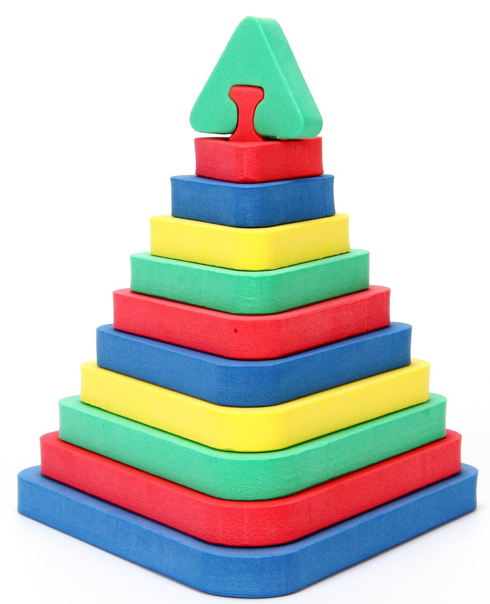 Бомик Мягкий конструктор Треугольная пирамида318Красочный объемный конструктор Треугольная пирамида привлечет внимание вашего ребенка и не позволит ему скучать. Размер составных элементов конструктора очень удобен для того, чтобы ребенку было удобно и комфортно в него играть. Собирая конструктор, ребенок разовьет внимание, воображение, мелкую моторику рук, пространственное и логическое мышление, а собранная своими руками игрушка будет для него гораздо дороже, чем готовая - ведь он вложил в нее свой драгоценный труд.