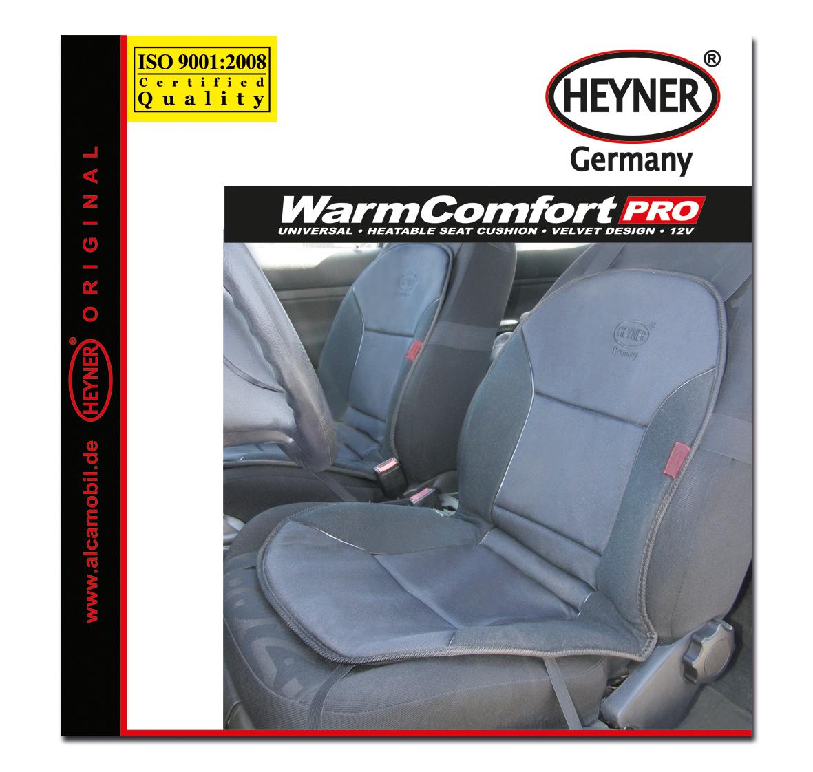 """Накидка на сиденье """"Heyner"""", с подогревом, цвет: серый, 12V 506200"""