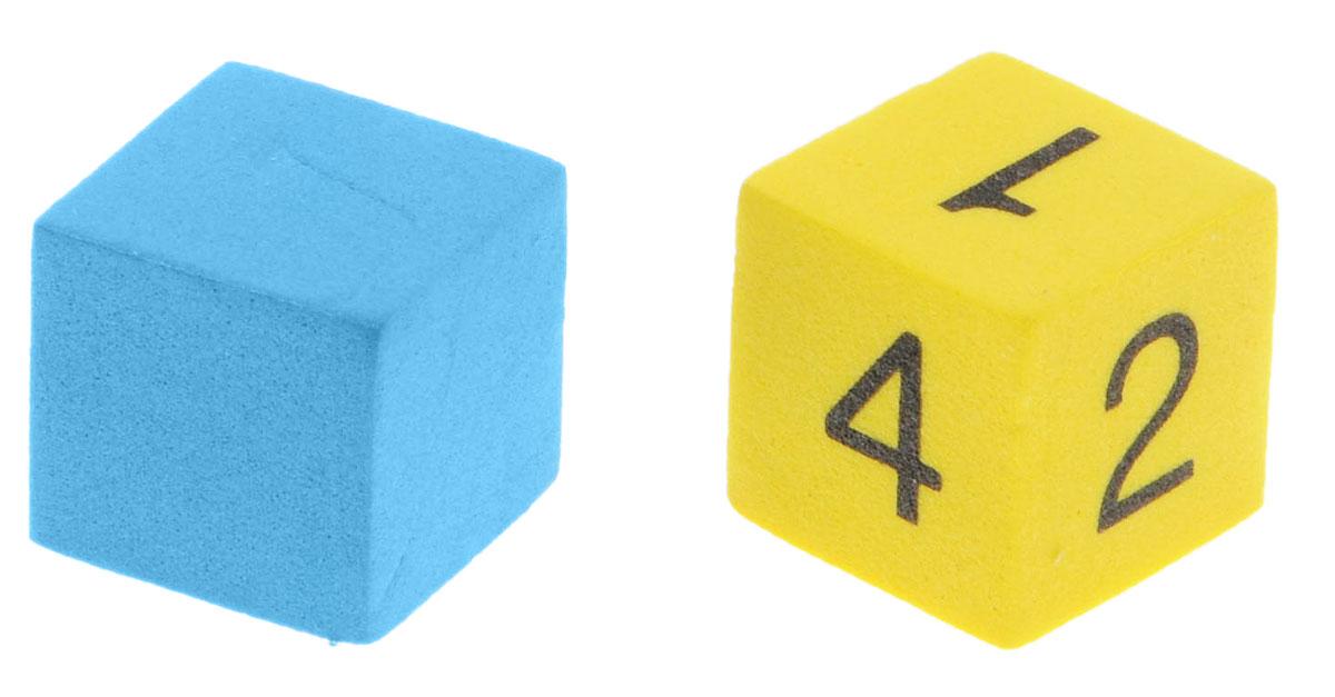 Koplow Games Набор игральных костей Шестигранный D6 цвет желтый синий 2 шт