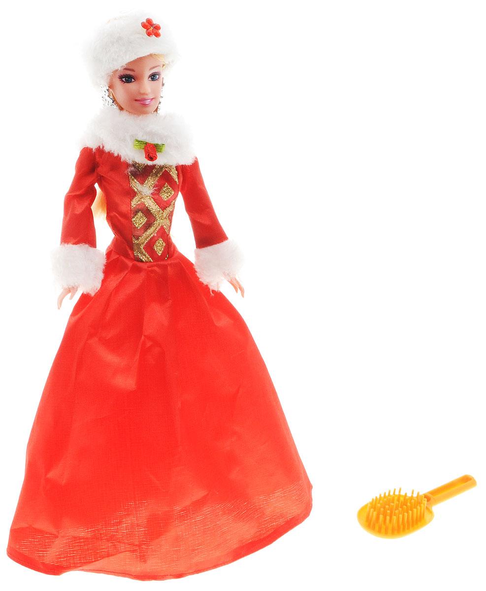 Win Goal Кукла Принцесса11134ВКукла Win Goal Принцесса обязательно понравится маленьким девочкам и доставит много часов удовольствия от игры с ней. Кукла готова сразить всех наповал своей красотой! Кукла с длинными светлыми волосами одета в красное платье, украшенное меховым воротником и манжетами. Образ дополняют серьги и неброский макияж. В набор входит расческа. Порадуйте свою малышку таким великолепным подарком!